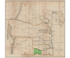 1834   map of western territory accompanying annual report of commissioner of indian affairs   chick highlighted darker